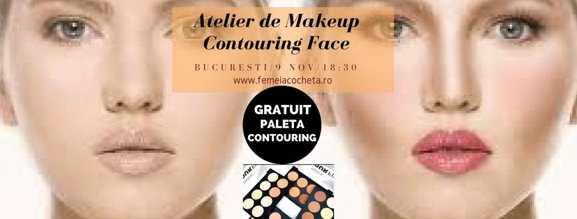 Atelier de Makeup – Contouring Face- Bucuresti, 9 Noiembrie