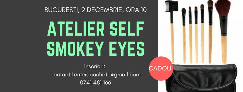 Atelier de Machiaj Smokey Eyes + Set pensule CADOU – Bucuresti, 9 Decembrie