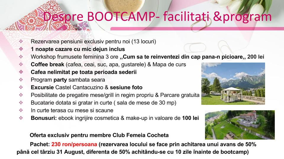 Bootcamp Beauty Restore – Busteni, 7-8 Octombrie